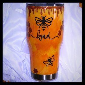 Bee kind peekaboo glitter tumbler